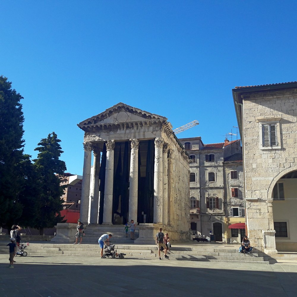 Istria day trip of Pula - Augustus Temple