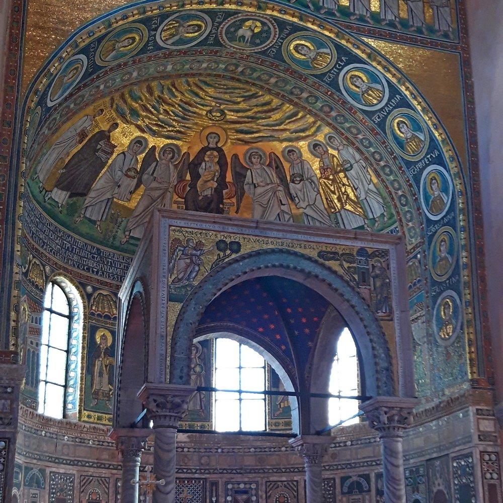 UNESCO protected mosaics Poreč Basilica Euphrasian Istri trip