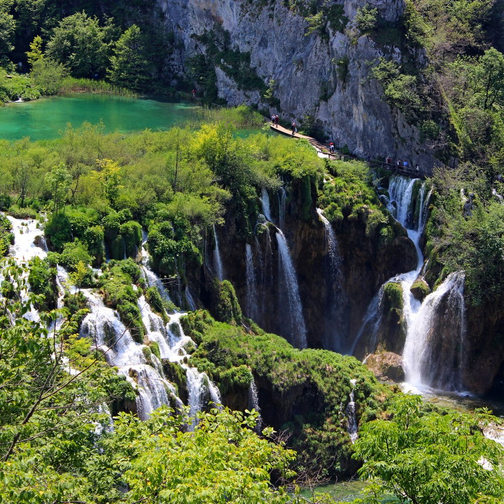 Plitvice Lakes National big waterfalls