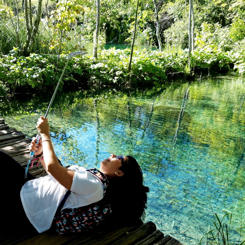 Day trip to Plitvice from Zagreb selfie photo
